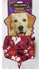 Halloween - Spooky Bandana - Glitter Print - Large - Pink - Brand New