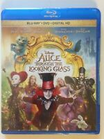 Alice Through the Looking Glass (Blu-ray/DVD, 2016, 2-Disc Set,(NEW)