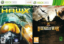history legends of war & hawx     xbox 360 pal