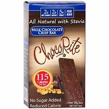 ChocoRite - Milk Chocolate Crisp Bar Low Calorie, Low Sugar, 5ct