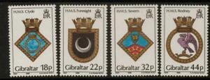 GIBRALTAR SG592/5 1988 NAVAL CRESTS MNH