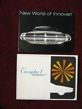 VINTAGE CAR BROCHURES 2 CONCEPT LITERATURE