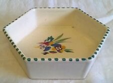 POOLE POTTERY 1930'S TRADITIONAL TI PATTERN SHAPE 581 HEXAGONAL DISH OR BOWL