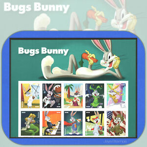 2020 BUGS BUNNY 80th Birthday HEADER BLOCK of 10 Attached Forever® Stamps 5503a