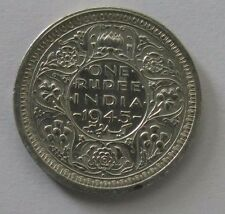 1945 India-British Rupee coin; Small 5; *XF* ; Silver KM#557.1