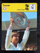 CHRIS EVERT 1977 Sportscaster Card #02-24 TENNIS