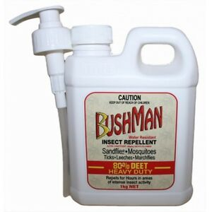BUSHMAN HEAVY DUTY GEL PUMP PACK 1kg - Insect Mosquito Mozzie Repellent 80% DEET