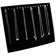 Ogrmar Black Velvet 17 Hook Necklace Jewelry Traydisplay Organizerpads New