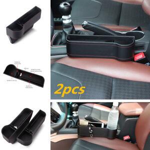 Car Storage Gap Seat Slit Pocket Organizer Caddy Box Drink Cup Holders Leather
