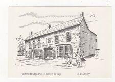 Halford Bridge Inn Halford Bridge Manns Pub Postcard 485b