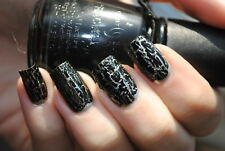 China Glaze Crackle BLACK MESH 81053 (14ml) New: Freepost Australia