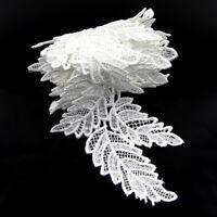 2 Yards White/Black Leaf Lace Edge Trim Wedding Ribbon Applique DIY Sewing Craft