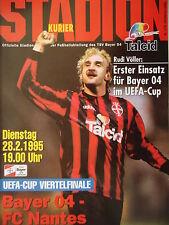 Programme UEFA Cup 1994/95 Bayer Leverkusen-FC Nantes