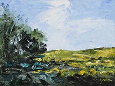 Rapeseed Field ORIGINAL LANDSCAPE PAINTING Steve Greaves Modern Contemporary Art