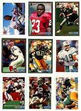 1993 BOWMAN FOOTBALL KEY CARDS U-Pick, NM/M