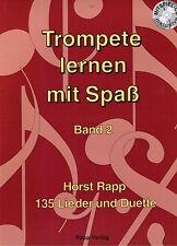 Trompete Noten Schule : Trompete lernen mit Spaß Band 2 -  mit CD
