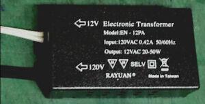 50W 12V MR16 Halogen Light Electronic Transformer 120V