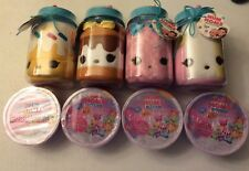 NUM NOMS SURPRISE IN A JAR LOT OF (4) DIFFERENT,& LOT OF (4) COLLECTIBLE CEREAL
