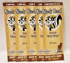 5 Packs Skunk Brand Genuine Hemp Wraps 2 Per Pack 10 Total Wraps Non Tobacco