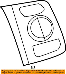 FORD OEM Steering Wheel-Switch Right 6L2Z9C888GAA