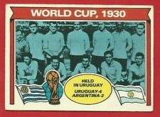 TOPPS FOOTBALLERS 1978 - ORANGE BACK TRADE CARD 337 - WORLD CUP 1930  (OK03)