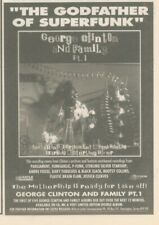 """(ANEW11) ADVERT 7X5"""" GEORGE CLINTON & FAMILY : THE GODFATHER OF SUPERFUNK"""