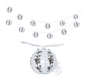 """Japanese Chinese Paper Lantern 4""""  Party String Lights (SET of 12) Lucky Bamboo"""
