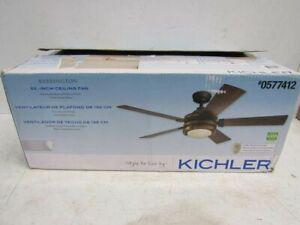 "Kichler Barrington 52"" Indoor Ceiling Fan with Light Kit, Black (0577412)"