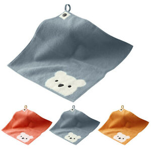 Soft Cotton Cute Animal Towel Cartoon Hanging Baby Childs Kids Face Wash Cloth