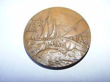 """Societe Nautique De Toulon 1896 bronze token medal souvenir 1-3/4"""""""