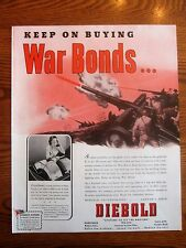 WWII War Bonds Ad with Artillery in Action