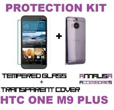 KIT COVER + PELLICOLA VETRO TEMPERATO HTC ONE M9 PLUS TPU CASE + TEMPERED GLASS