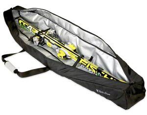 StoreYourBoard Ski Travel Bag, Waterproof Padded Carrier Holds Single Ski Pair