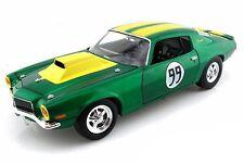 """CHEVROLET 1970 Camaro 350 """"cooters"""" #99 Dukes of Hazzard verde/giallo scala 1.18"""