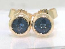 Saphir Ohrstecker 585 Gelbgold 14Kt Gold Ohrringe blaue natürliche Saphire