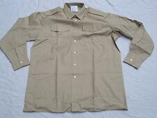 Camisa MANS Fawn, manga larga, ALL ranks, talla 35 Británico de servicio, LARGA