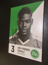 61058 Kofi Yeboah Schulz FC St. Gallen 16-17 original signierte Autogrammkarte