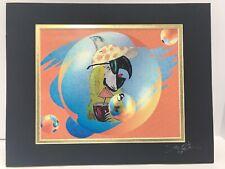 Margaritaville Buffett Parrot Head Print Trip Around The Sun Matted Signed 8�x10