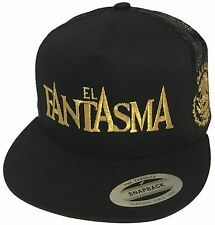 EL FANTASMA DE OAXACA MEXICO HAT  2 LOGOS  BLACK MESH TRUCKER SNAPBACK