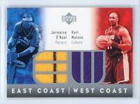 2004 Jermaine O'Neal Karl Malone Jersey Upper Deck East Coast West Coast