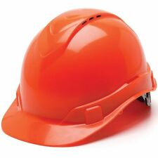 Ridgeline Vented Orange Hard Hat 4 Point Ratchet Suspension