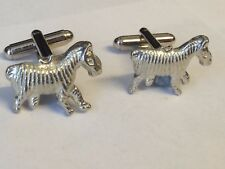 Zebra Tg315 Cufflinks Made From English Modern Pewter
