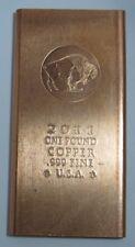 2011 ONE POUND BUFFFALO COPPER BAR .999 COPPER BAR