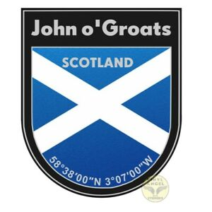 2x John o'Groats Scottish Flag Scotland Vinyl Sticker Decal - Waterproof #2083