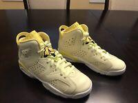 New Nike Air Jordan 6 Retro Citron Tint Sneaker Shoes Size US 6