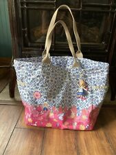 Lesportsac Disney It's A Small World Blooming Joy Picture Tote Bag w Kalie Charm
