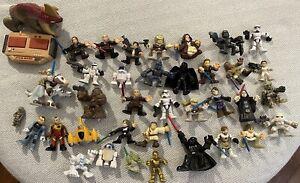 Hasbro Star Wars 38 Figures Luke R2D2 LukeYoda Imaginext Galactic Heroes Lot #2