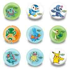 Lot of 9 Pokemon Badges - 3cms diameter - for party loot bags favours
