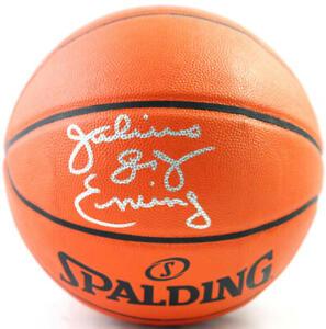Julius Erving Autographed NBA Spalding Basketball- Beckett Witnessed *Silver