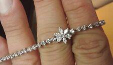 2 CTW Platinum Diamond Flower Bracelet-Free Shipping - Free 3rd Party Appraisal